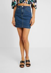 Missguided - SUPERSTRETCH SKIRT  - Spódnica trapezowa - blue - 3