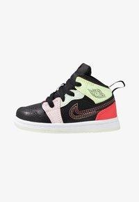 Jordan - 1 MID SE - Basketball shoes - black/ember glow/barely volt/light soft pink/jade aura - 1