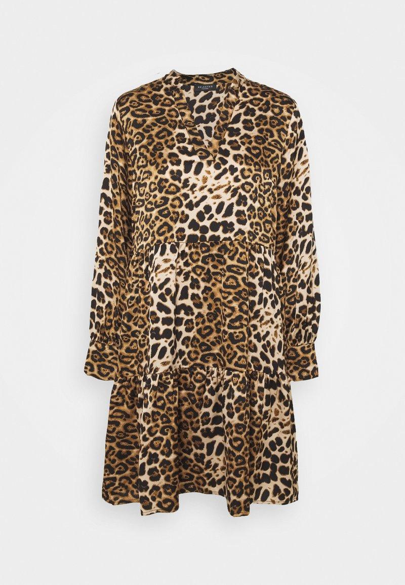 Selected Femme - SLFAURA  - Day dress - tigers eye