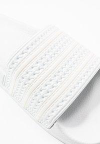 adidas Originals - ADILETTE - Mules - footwear white/offwhite - 5