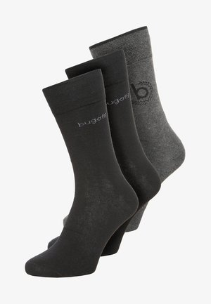 ICON 3 PACK - Socks - anthracite melange/black