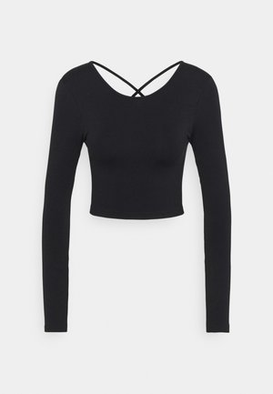 LIFESTYLE SEAMLESS OPEN BACK LONG SLEEVE  - Topper langermet - black