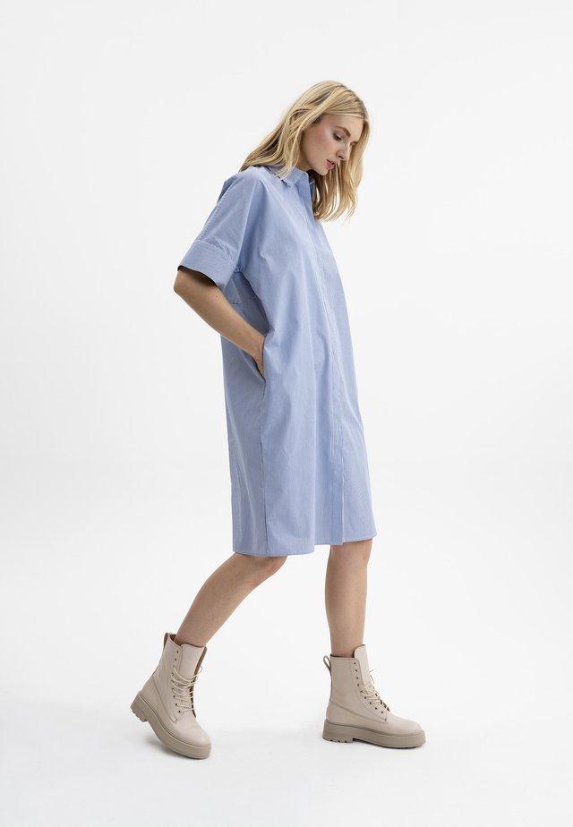 Shirt dress - navy/weiß gestreift