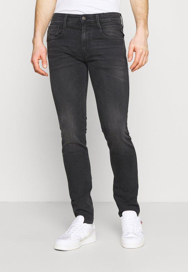 ANBASS BIO - Jean slim - dark grey