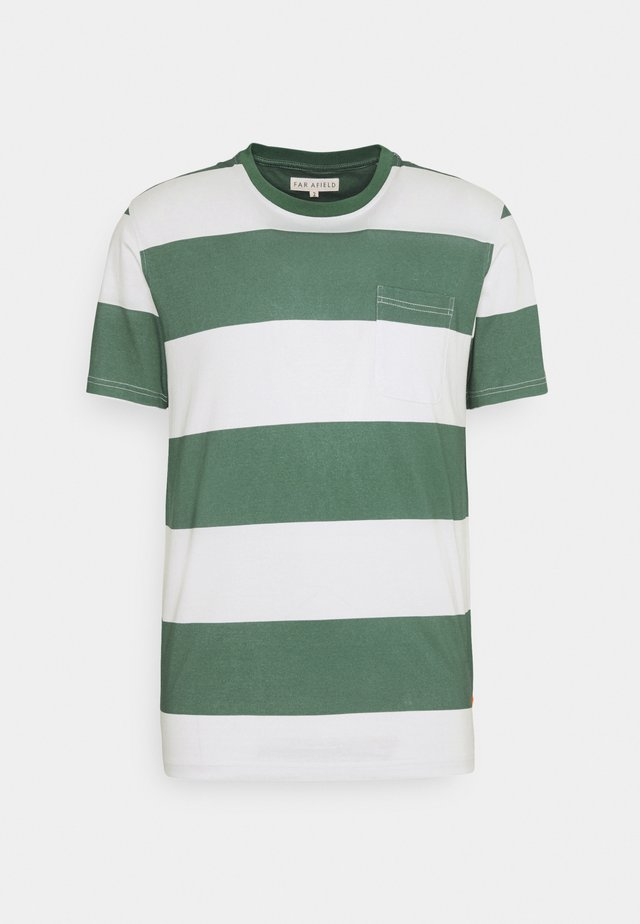 BOLD STRIPE - Print T-shirt - sagebrush green