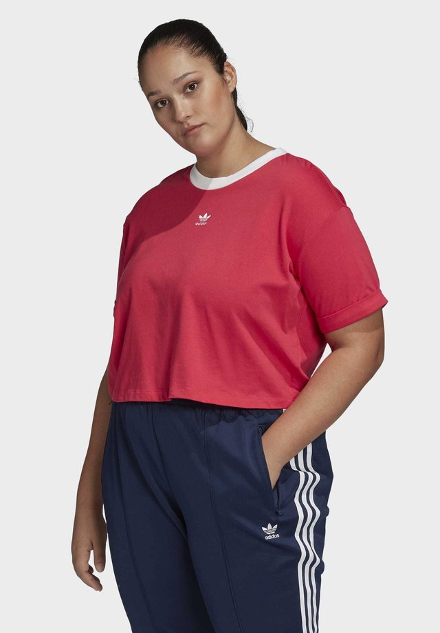 CROP TOP (PLUS SIZE) - T-shirt con stampa - pink