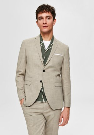 SELECTED HOMME BLAZER SLIM FIT WOLLMISCHFASER - Blazer - sand