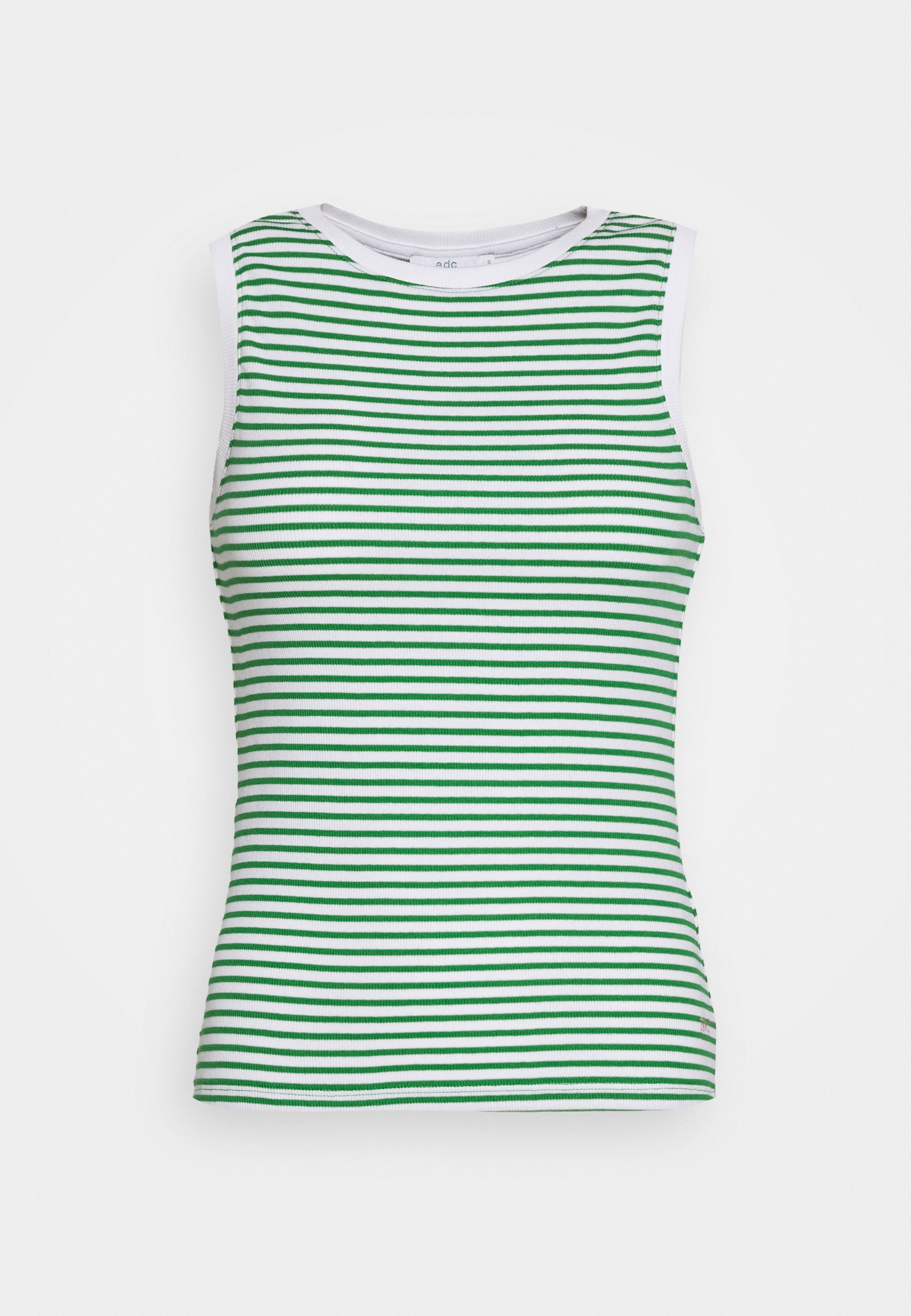 Edc By Esprit Stripe Tank - Topper Green/grønn