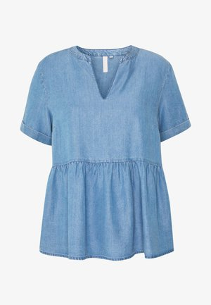 PCWHY ABBY - Blusa - light blue denim