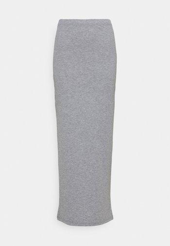 NMMOX  - Maxi skirt - medium grey melange