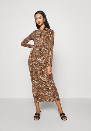 LONG SLEEVE DRESS - Maxi-jurk - black/beige