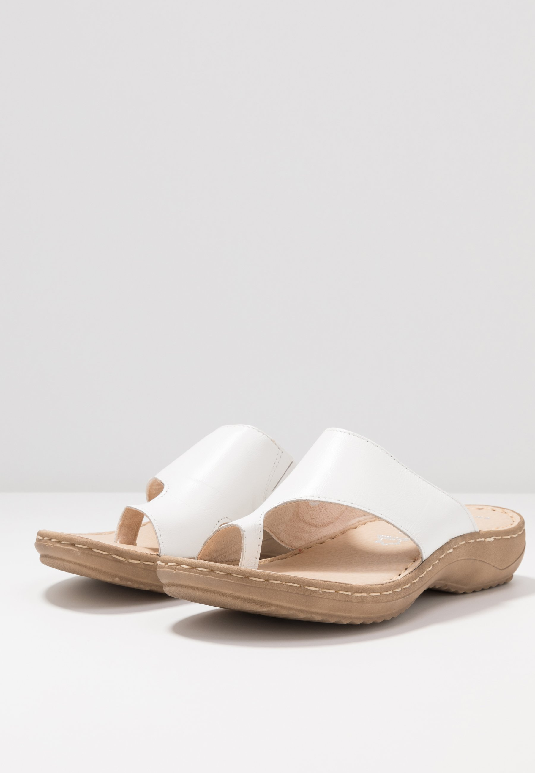 Marco Tozzi SLIDES Zehentrenner white/weiß
