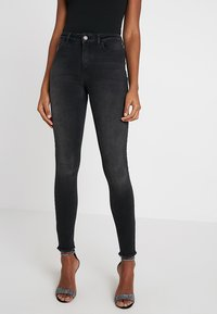 ONLY - ONLBLUSH RAW - Jeans Skinny Fit - black denim - 0