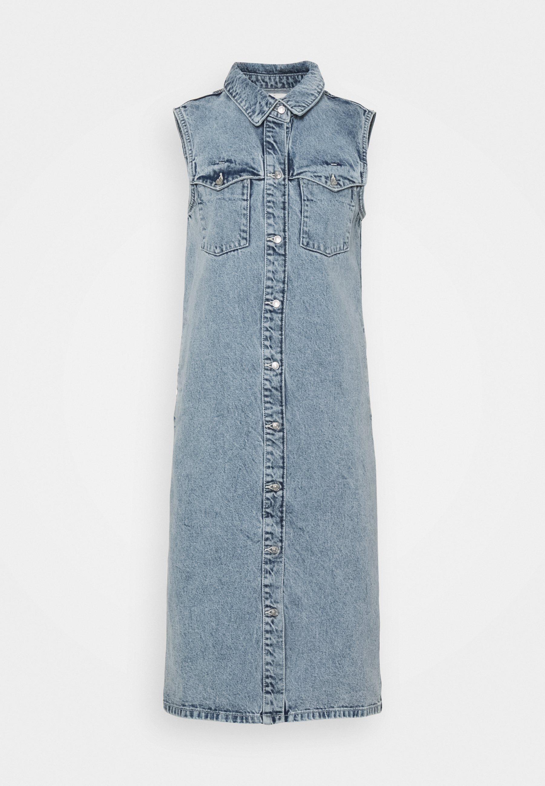 Women NMMINETTA DRESS - Denim dress