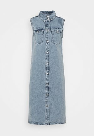 NMMINETTA DRESS - Denim dress - light blue denim
