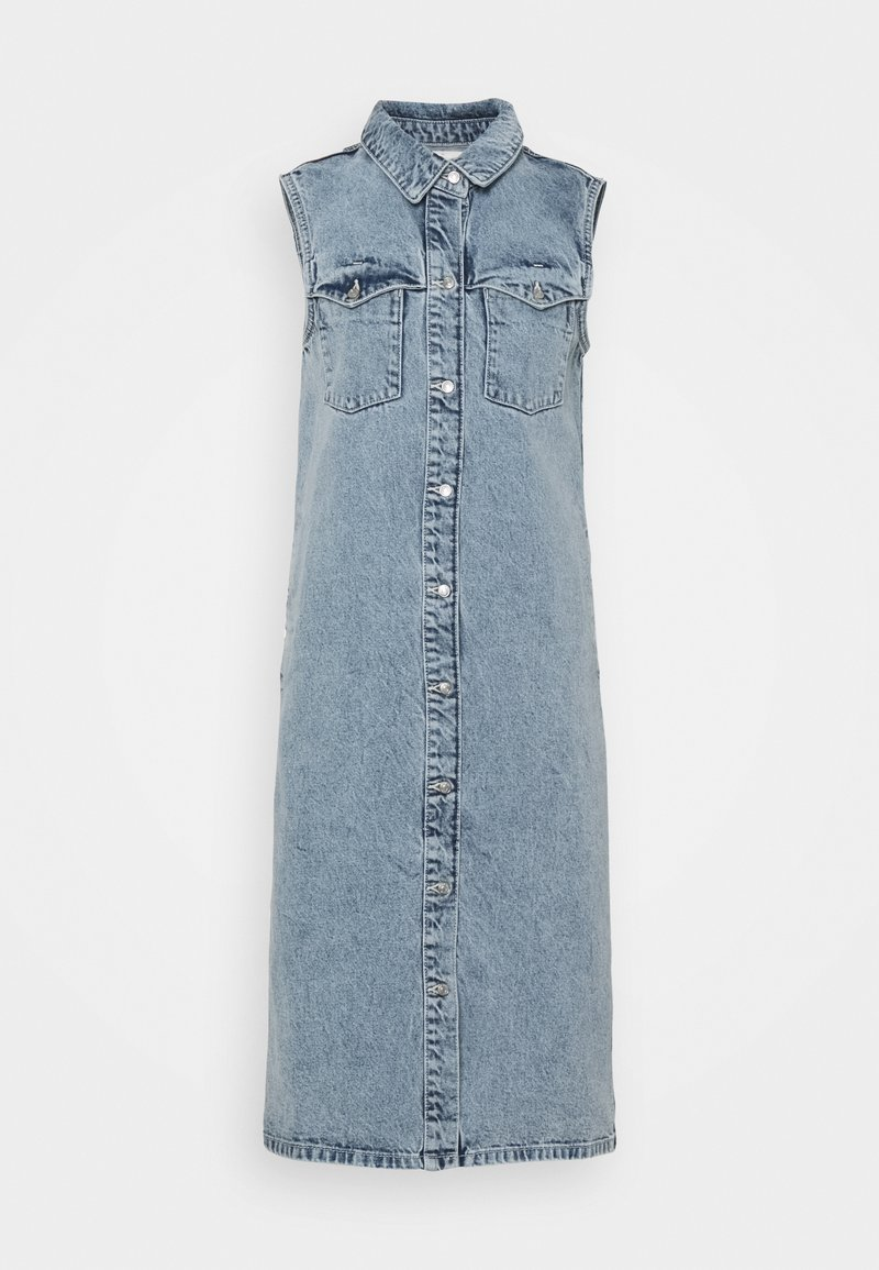 Noisy May - NMMINETTA DRESS - Denimové šaty - light blue denim