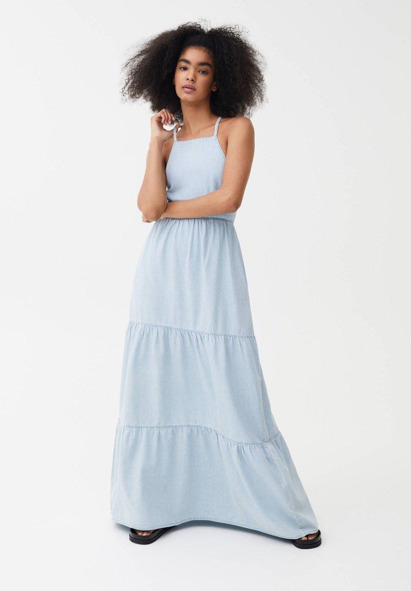 PULL&BEAR - Denim dress - light blue
