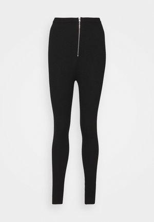 CORSET ZIP  - Leggings - black