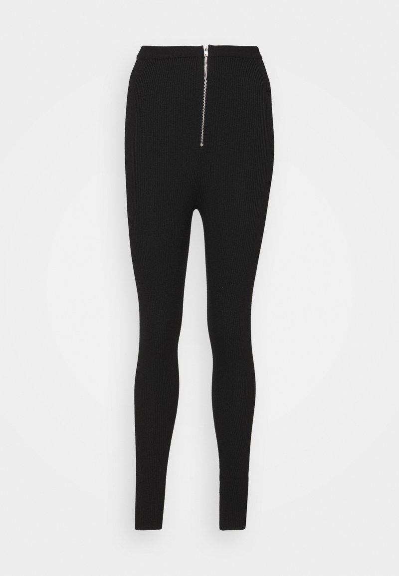 Missguided - CORSET ZIP  - Leggings - black