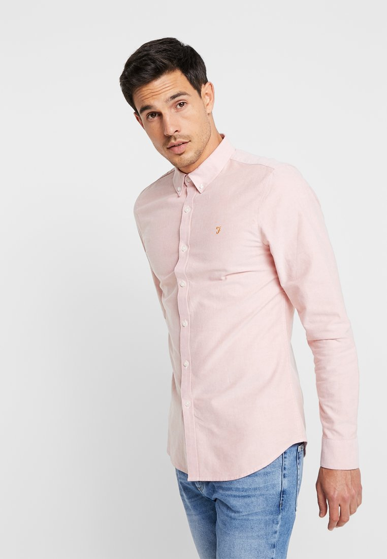 Farah - BREWER SLIM FIT - Shirt - peach