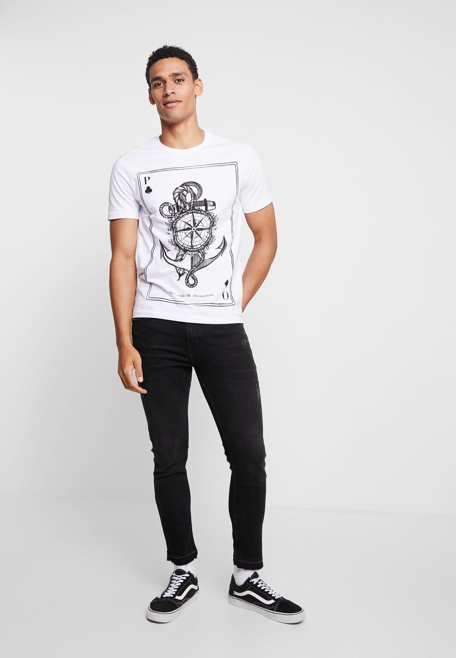 Pier One T-shirts Med Print - White/hvit