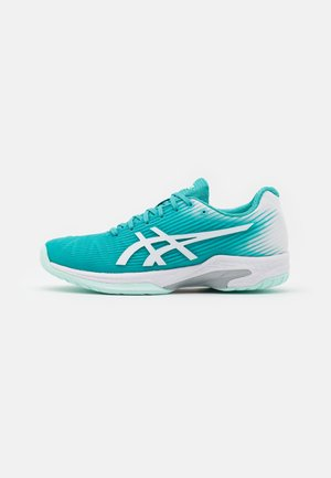 SOLUTION SPEED - Chaussures de tennis toutes surfaces - techno cyan/white