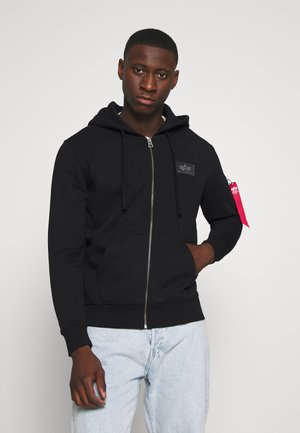 BACK PRINT ZIP HOODY - Mikina na zip - black