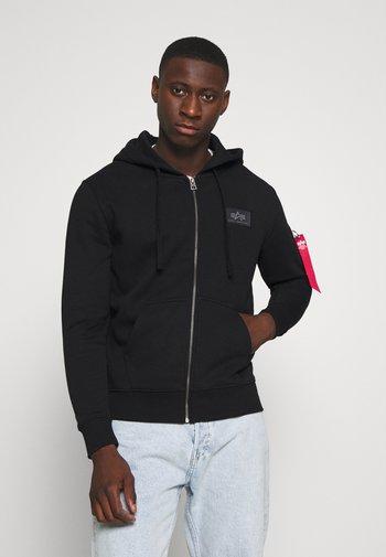BACK PRINT ZIP HOODY - Zip-up hoodie - black