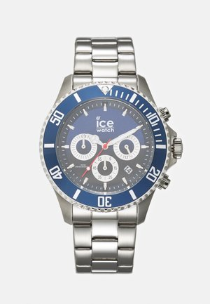 Chronograph watch - marine/silver