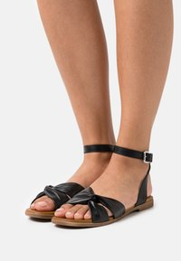 Anna Field - COMFORT LEATHER - Sandals - black - 0
