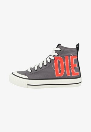 High-top trainers - steel gray coral fluo