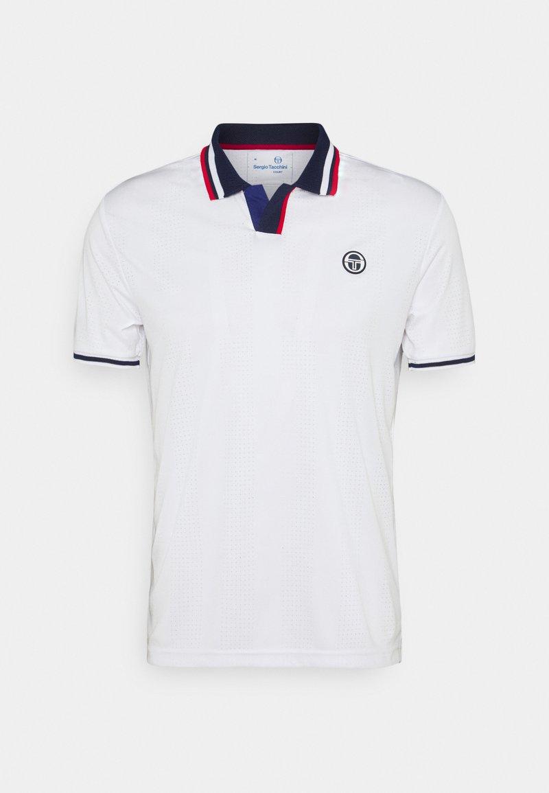 Sergio Tacchini - PARIS MAN - Polo shirt - blanc de blanc/blue depths