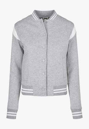 Zip-up hoodie - grey white