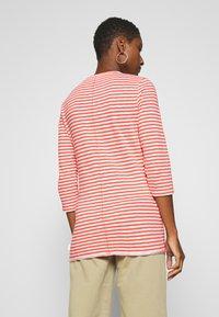 Marc O'Polo DENIM - T-SHIRT, 3 4 SLEEVE, Y D STRIPE - Camiseta de manga larga - multi/soft coral - 0
