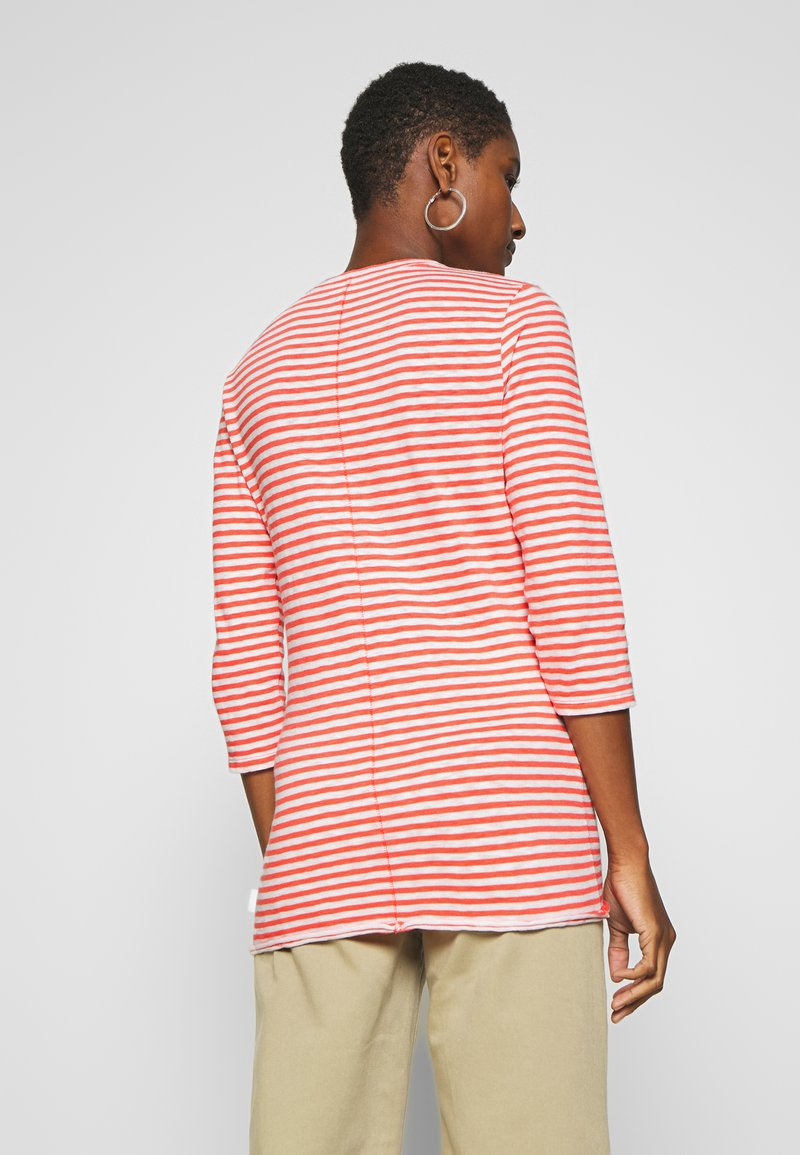 Marc O'Polo DENIM - T-SHIRT, 3 4 SLEEVE, Y D STRIPE - Camiseta de manga larga - multi/soft coral