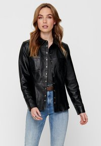 ONLY - Giacca di pelle - black - 0