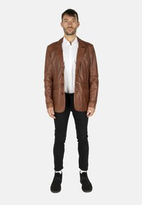 LEATHER HYPE - HYPE BLAZER - Leather jacket - cognac brown - 1