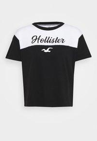 Hollister Co. - SPORTY - Camiseta estampada - black/white - 4