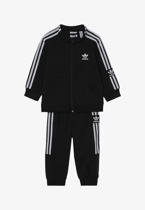 LOCK UP - Tracksuit - black/white