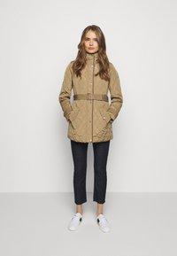 Lauren Ralph Lauren - JACKET BELT - Winter coat - sand - 1