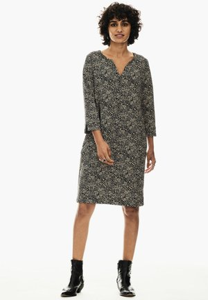 WITH ALLOVER PRINT - Day dress - smoke gray