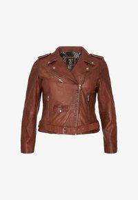 No.1 by Ox - Leather jacket - dark cognac - 4