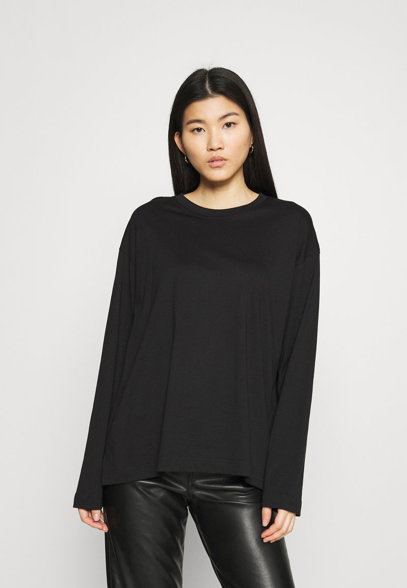 ARKET - JERSEY LONG SLEEVE - Long sleeved top - black