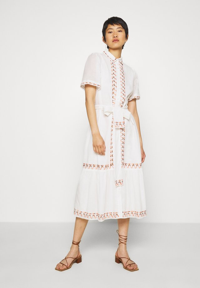 AFTERNOON EMBELLISHMENT - Sukienka koszulowa - off-white