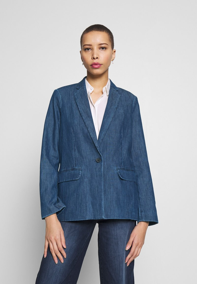 TOM TAILOR - Veste en jean - dark stone wash denim/blue
