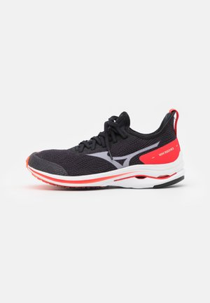 WAVE RIDER NEO - Neutral running shoes - black/white/ignition red