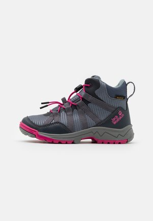 THUNDERBOLT TEXAPORE MID UNISEX - Hiking shoes - pebble grey/pink