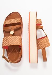 GANT - MIDVILLE  - Platform sandals - cognac/coral - 3