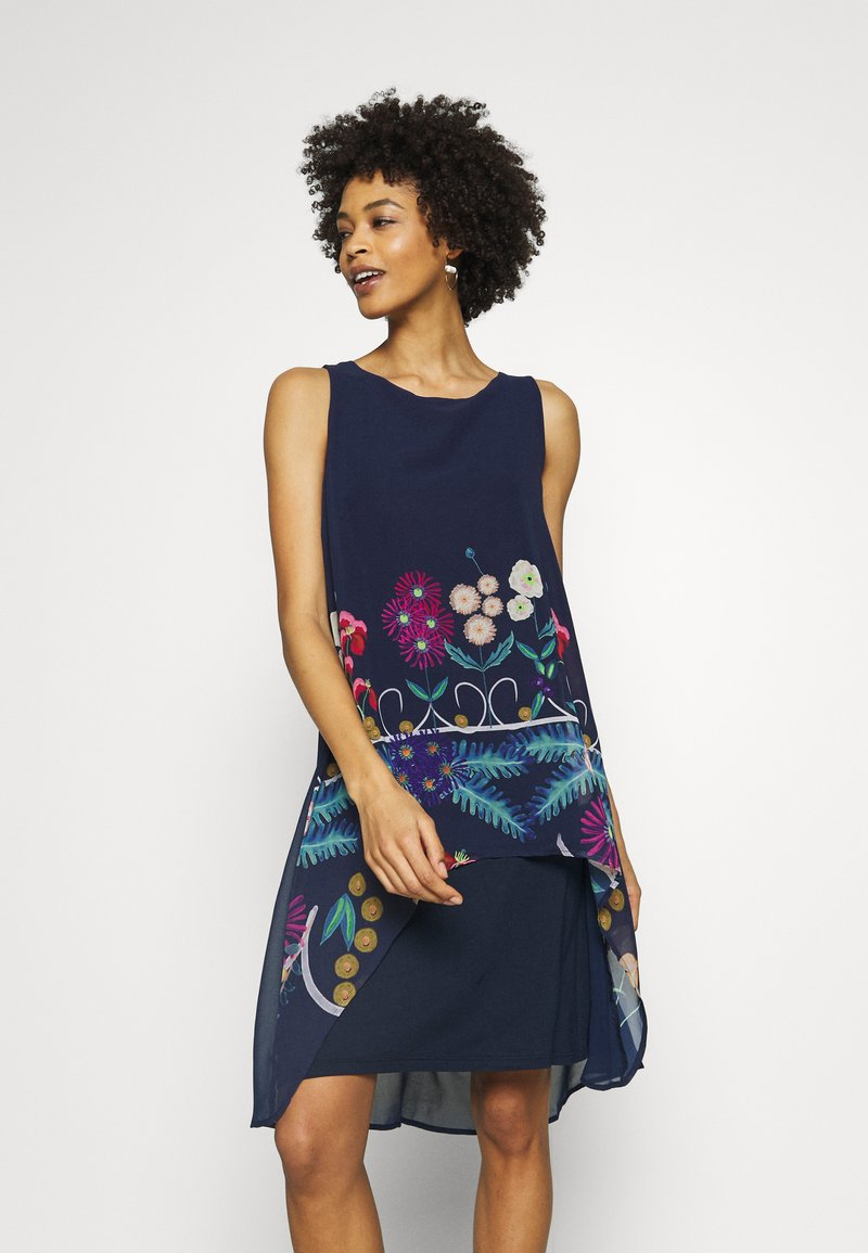 Desigual - CARNEGIE - Day dress - azul tinta