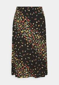 Simply Be - SKIRT WITH SIDE SPLIT - A-line skirt - black fruit print - 6